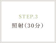 STEP.3 照射(30分)